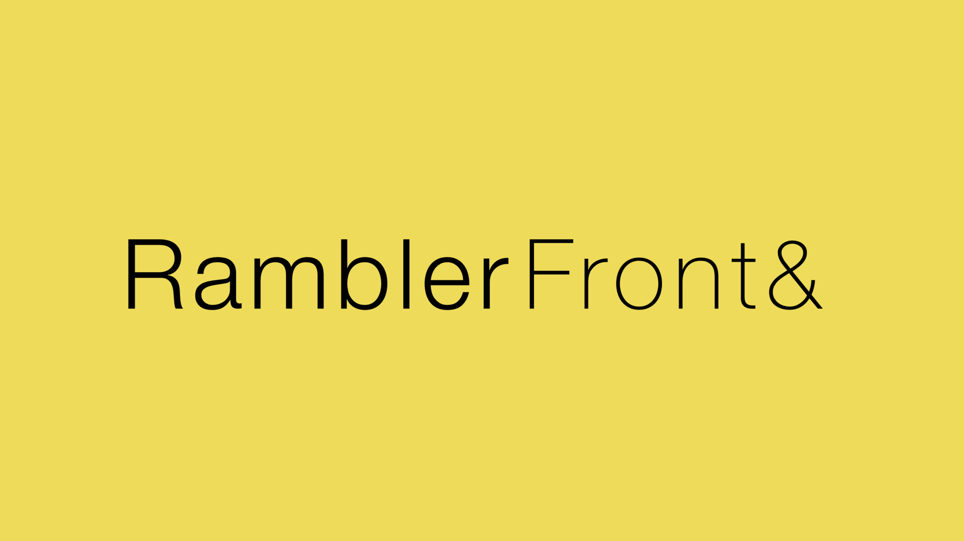 Анонс RamblerFront& #1 - 1