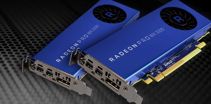 AMD представила бюджетные профессиональные карты Radeon Pro WX 2100 и WX 3100