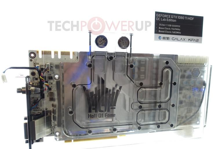 На 3D-карте Galax GTX 1080 Ti HOF OC Lab Edition есть три разъема дополнительного питания