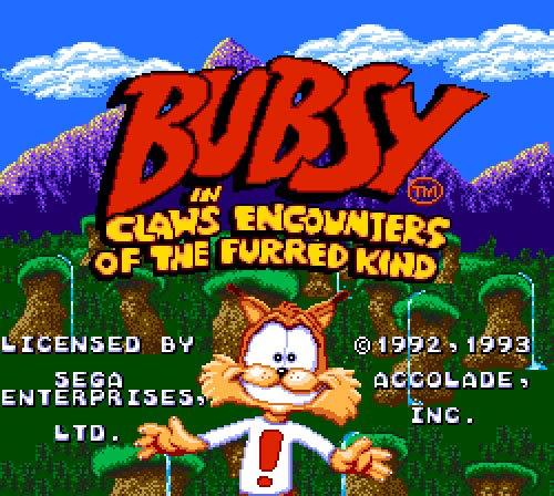 Bubsy Sega license