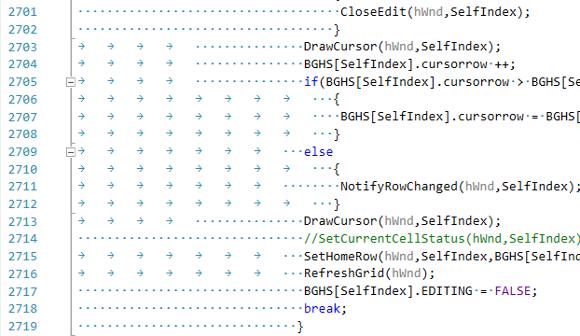 Рисунок 1 - Разные отступы в коде.