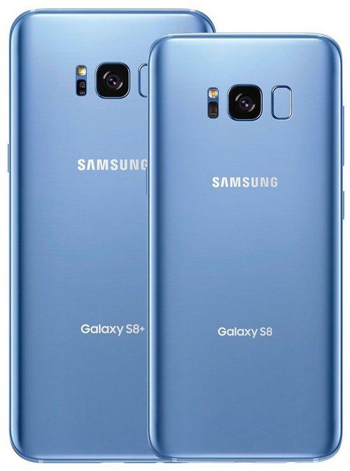 Смартфоны Samsung Galaxy S8 и S8+ скоро появятся на рынке в цвете Coral Blue