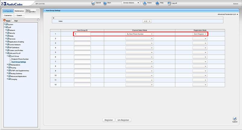Вынос телефонных линий с помощью VoIP-шлюзов Audiocodes - 10
