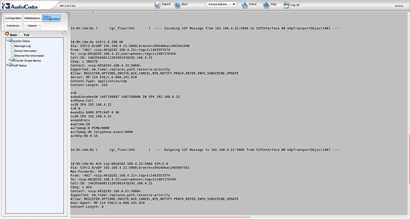 Вынос телефонных линий с помощью VoIP-шлюзов Audiocodes - 15