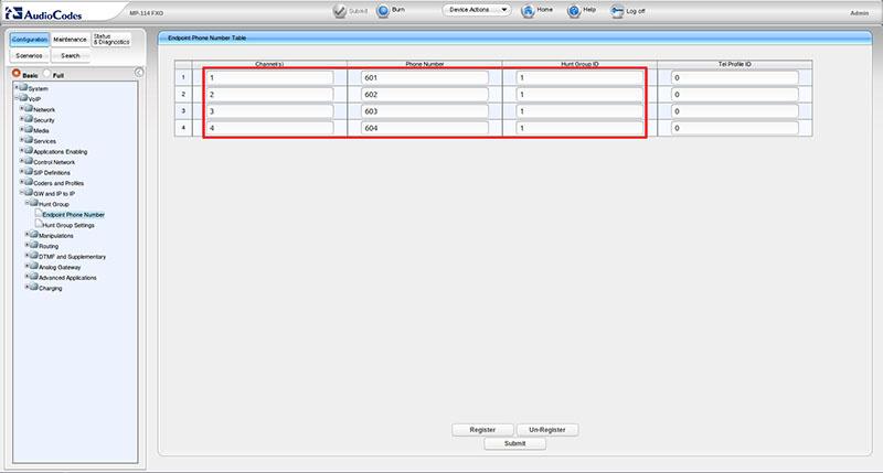 Вынос телефонных линий с помощью VoIP-шлюзов Audiocodes - 3