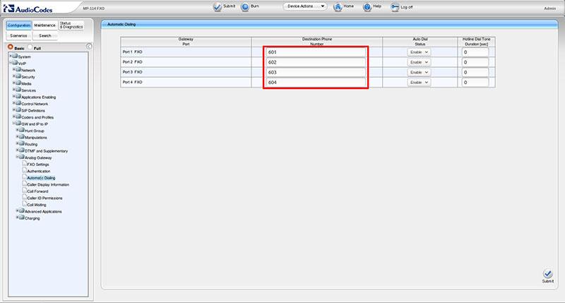 Вынос телефонных линий с помощью VoIP-шлюзов Audiocodes - 7