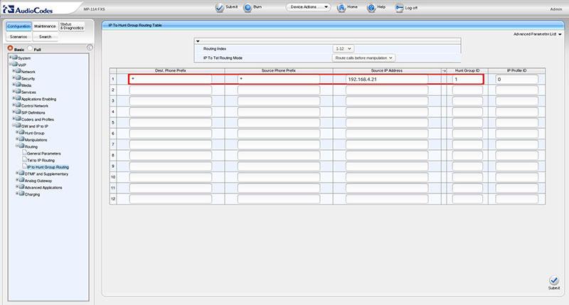 Вынос телефонных линий с помощью VoIP-шлюзов Audiocodes - 9