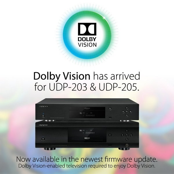 Плееры Ultra HD Blu-ray Oppo UDP-203 и UDP-205 первыми получили поддержку Dolby Vision