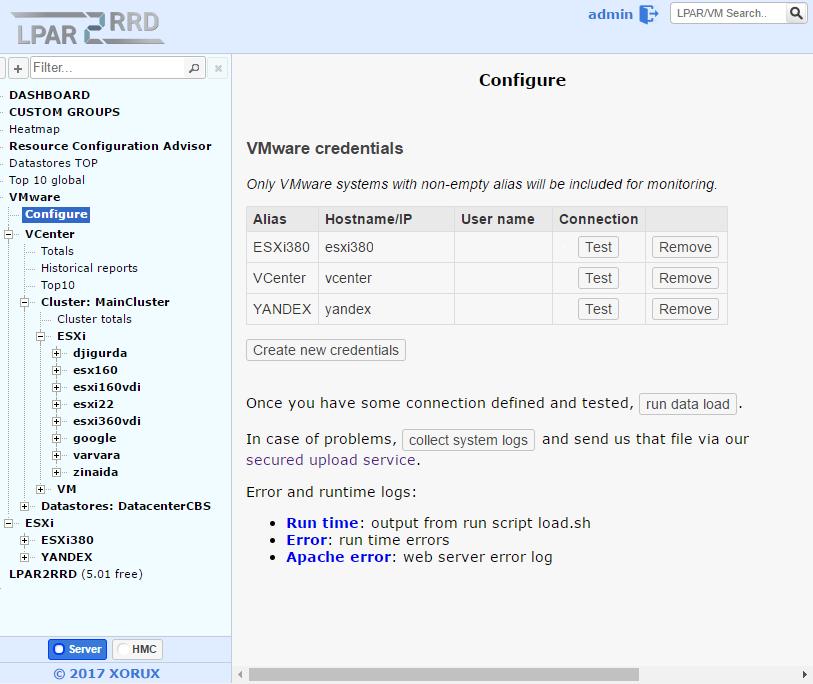 XoruX — бесплатный мониторинг виртуальной инфраструктуры, систем хранения и передачи данных - 7