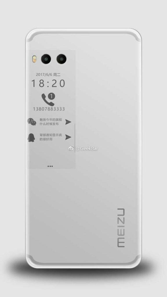 Дополнительный дисплей смартфона Meizu Pro 7 сможет отображать дату, время и уведомления