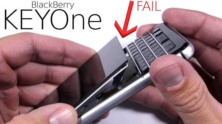 BlackBerry Keyone оказался не самым прочным смартфоном