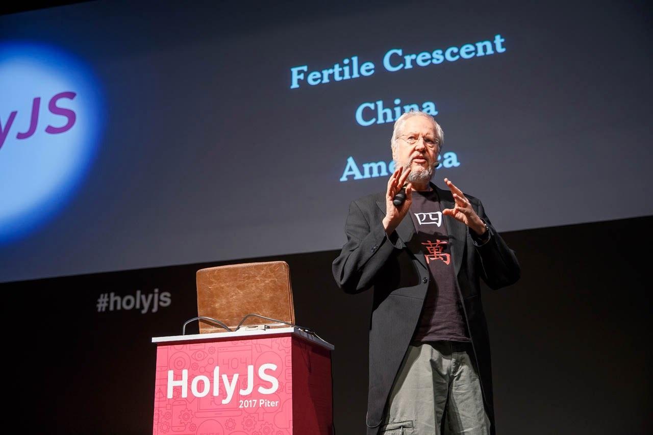 От «нового числового формата» до «кода как UI»: как прошла HolyJS 2017 Piter - 1
