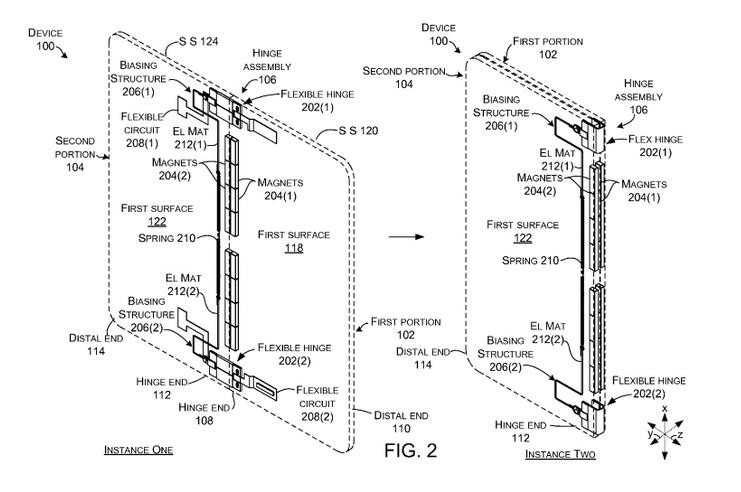 Microsoft запатентовала устройство со сгибающимся дисплеем