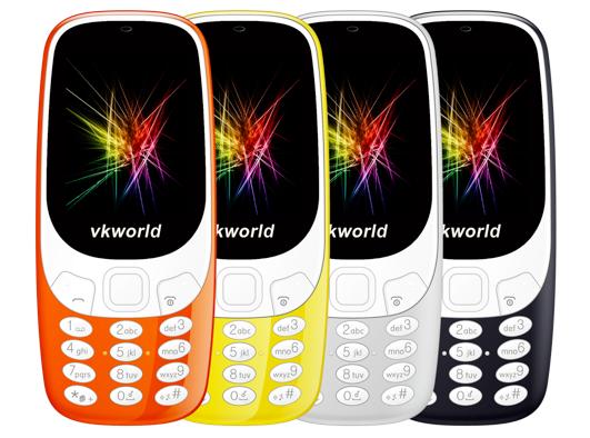Мобильный телефон VKWorld Z3310, являясь лучше оснащенным, будет вдвое дешевле Nokia 3310 (2017)