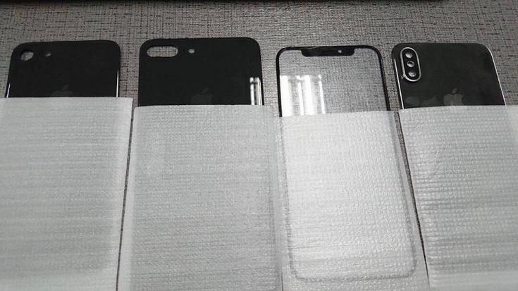 Опубликованы фотографии передней и задней панелей смартфона iPhone 8