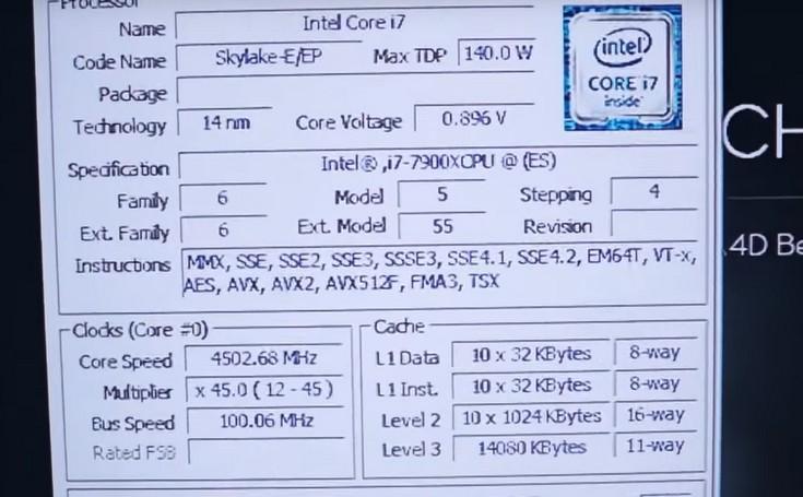 Intel Core i9-7900X показал, на что способен в разгоне