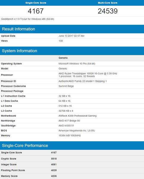 Флагманом новой линейки AMD может стать модель Ryzen Threadripper 1950X