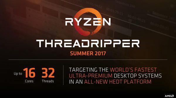 Процессоры AMD Ryzen Threadripper можно будет купить с 10 августа