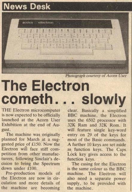 Acorn Electron — неудачный наследник BBC Micro - 6