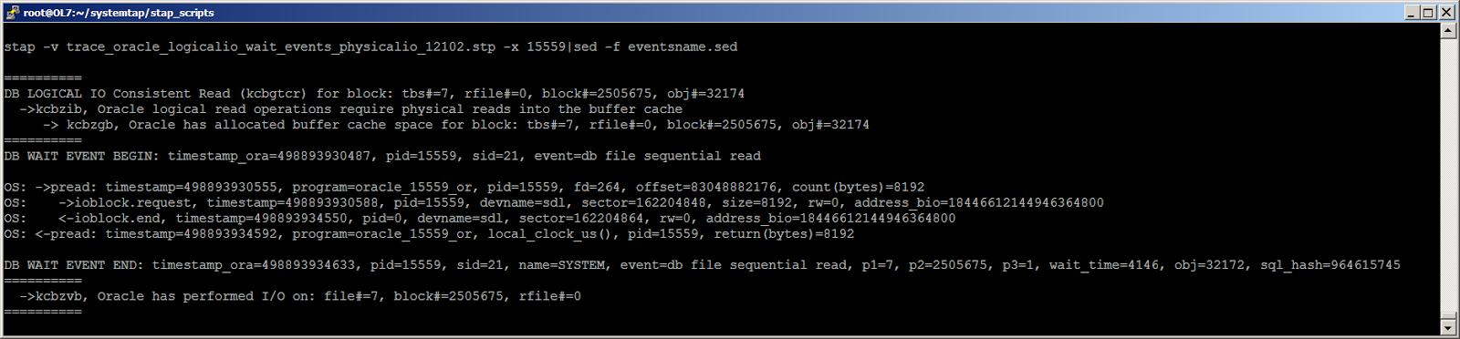 Жизнь Oracle I-O: трассировка логического и физического ввода-вывода с помощью SystemTap - 2