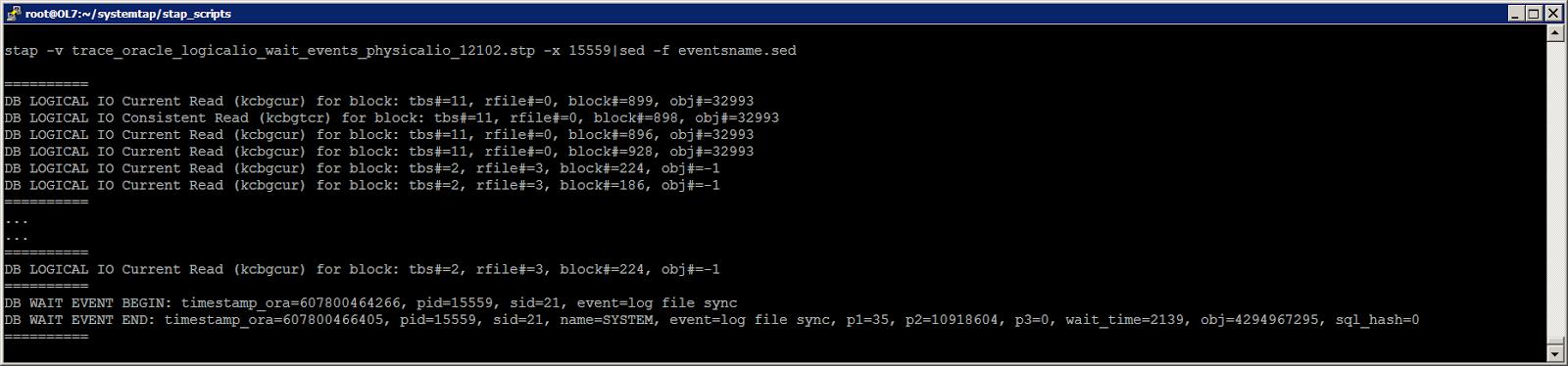 Жизнь Oracle I-O: трассировка логического и физического ввода-вывода с помощью SystemTap - 9