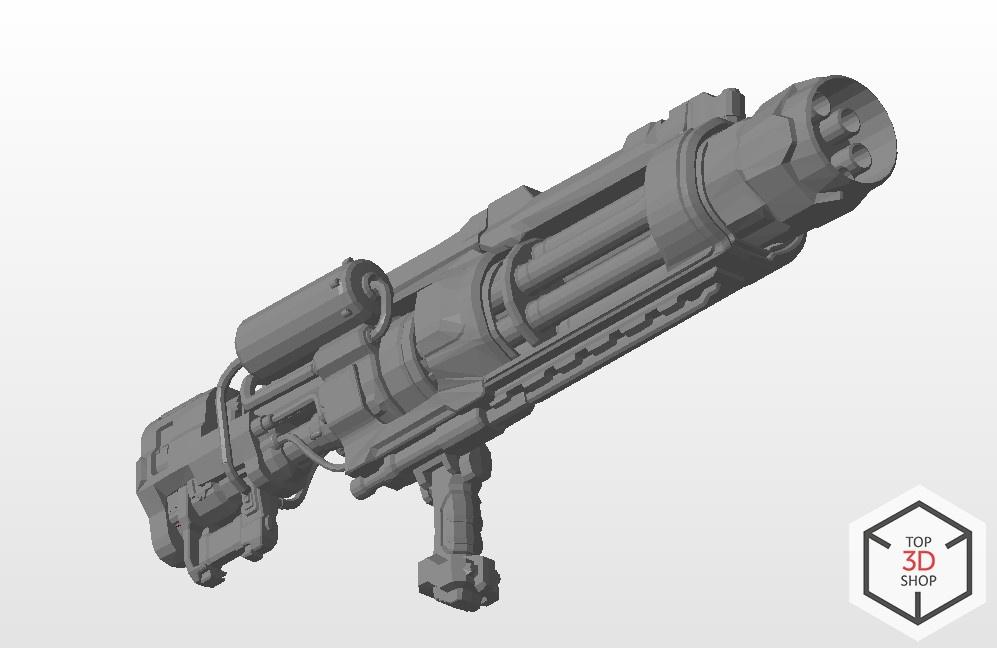 [КЕЙС] Как мы печатали гигантский пулемет с Марса для стенда на E3 - 14