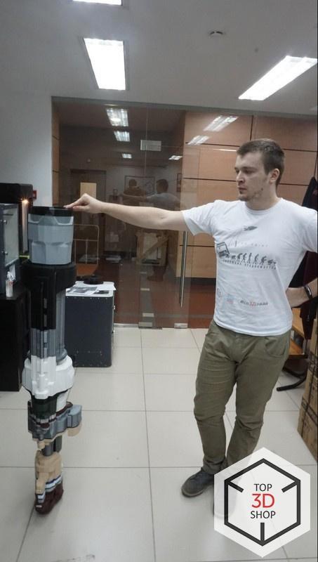 [КЕЙС] Как мы печатали гигантский пулемет с Марса для стенда на E3 - 21