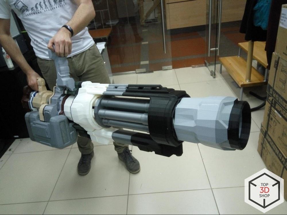 [КЕЙС] Как мы печатали гигантский пулемет с Марса для стенда на E3 - 22