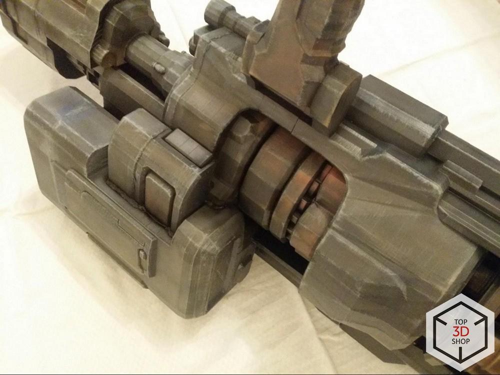 [КЕЙС] Как мы печатали гигантский пулемет с Марса для стенда на E3 - 23