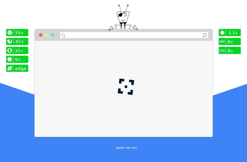 Preloader на css и js - Crosshair loader