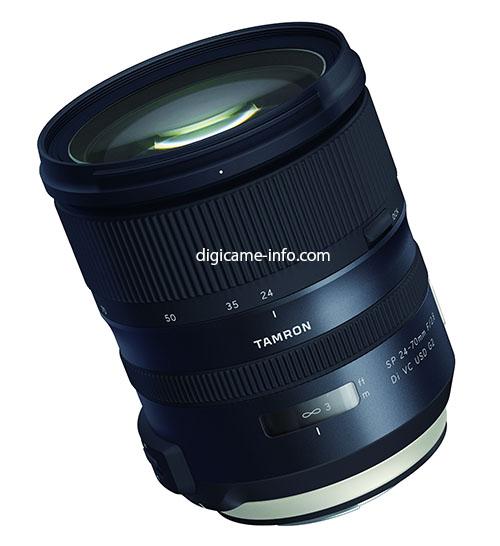 Анонс объектива Tamron SP 24-70mm f/2.8 Di VC USD G2 ожидается на этой неделе