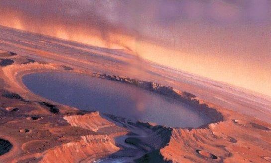 Марсианское озеро, которое уже высохло, в прошлом могло быть пристанищем живых организмов