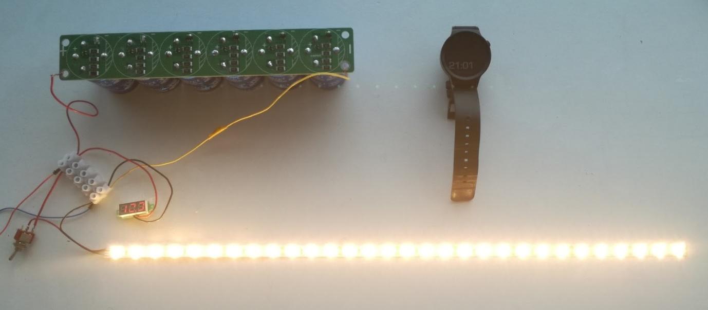 Солнечная батарея на балконе: тестирование батареи ионисторов - 2