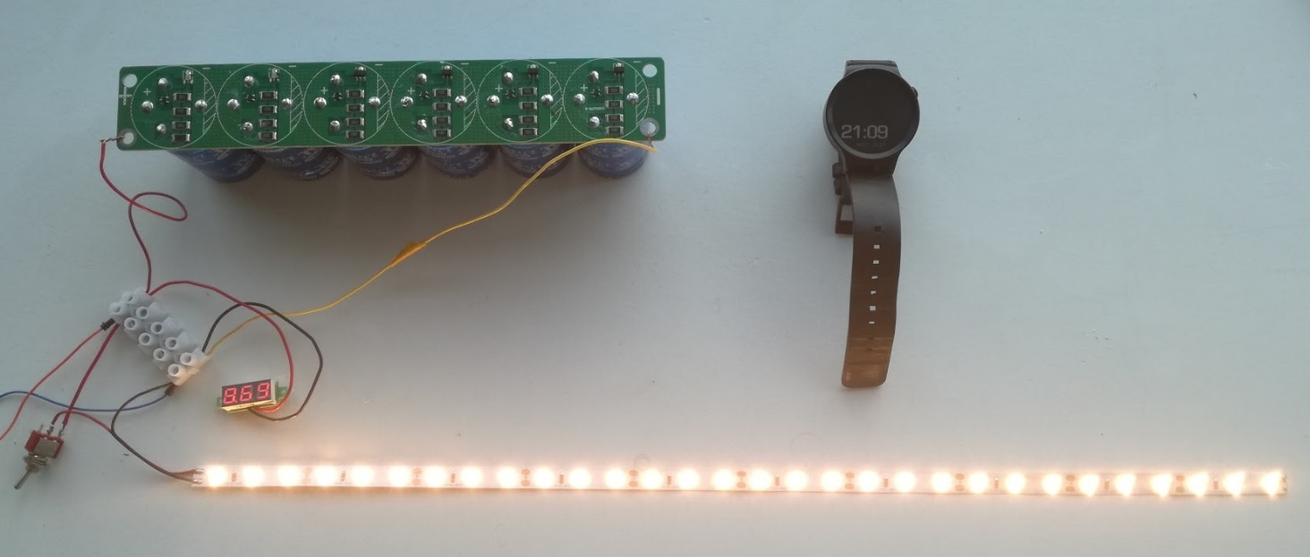 Солнечная батарея на балконе: тестирование батареи ионисторов - 3
