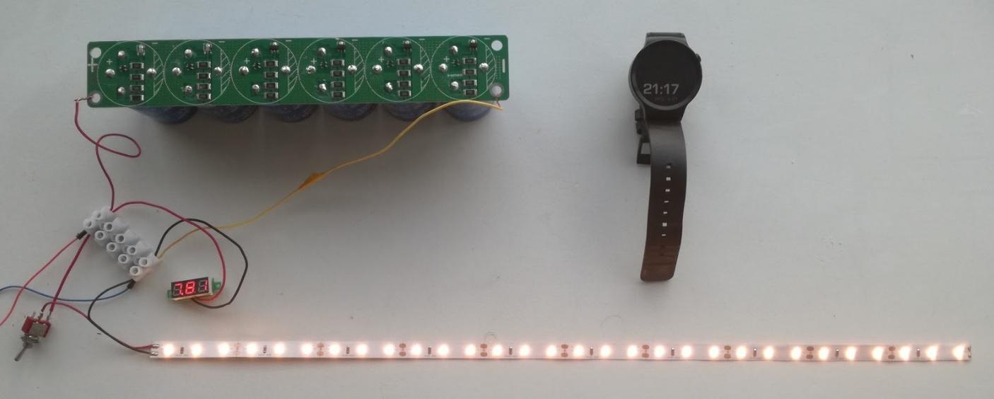 Солнечная батарея на балконе: тестирование батареи ионисторов - 4