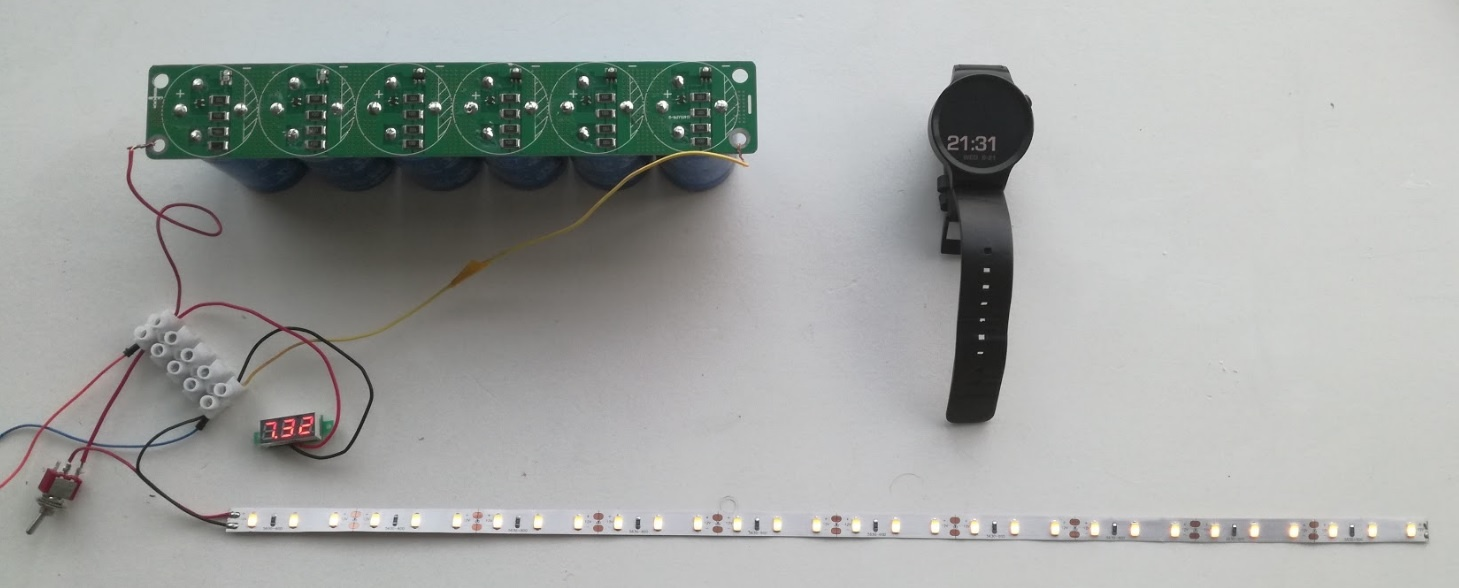 Солнечная батарея на балконе: тестирование батареи ионисторов - 5