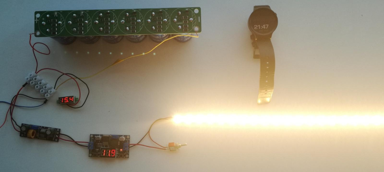 Солнечная батарея на балконе: тестирование батареи ионисторов - 6