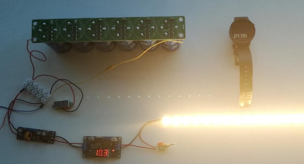 Солнечная батарея на балконе: тестирование батареи ионисторов - 7