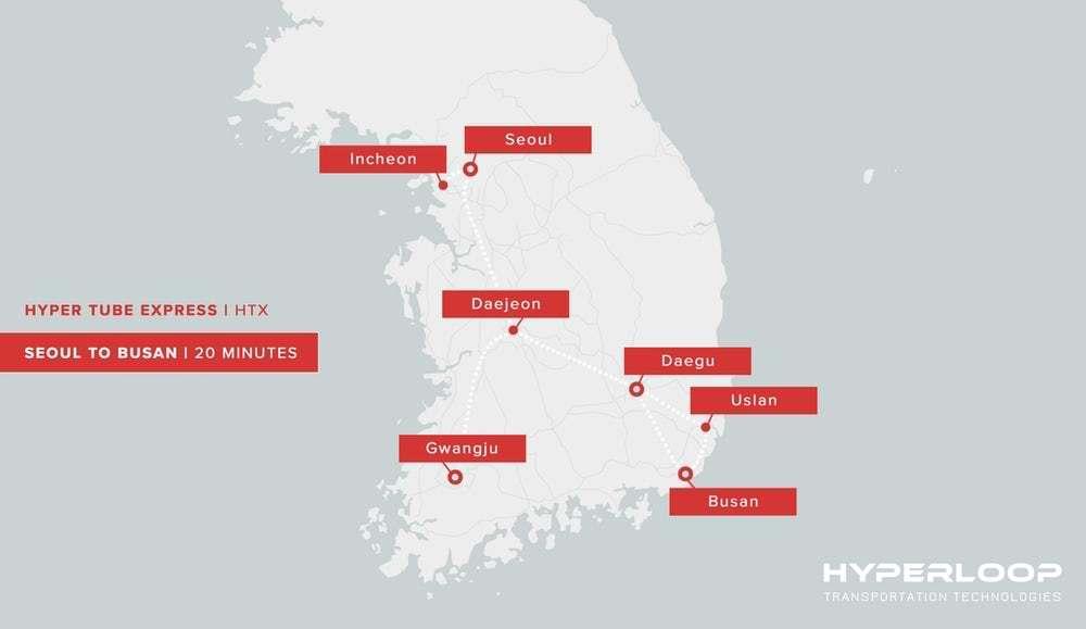 Южная Корея построит у себя первую в мире трассу Hyperloop - 2