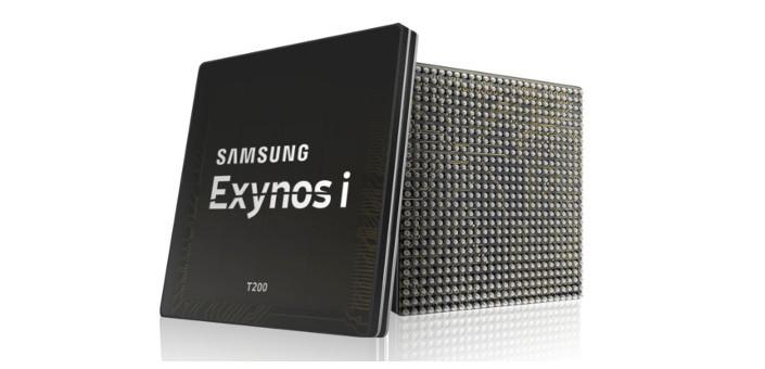 Конфигурация Exynos i T200 включает процессор, память и блоки, необходимые для беспроводного подключения