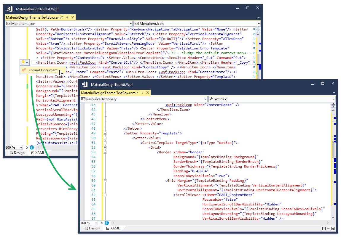 Возможности CodeRush for Roslyn для XAML - 2