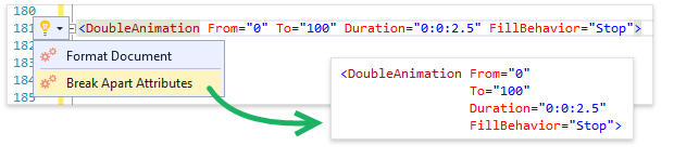 Возможности CodeRush for Roslyn для XAML - 4