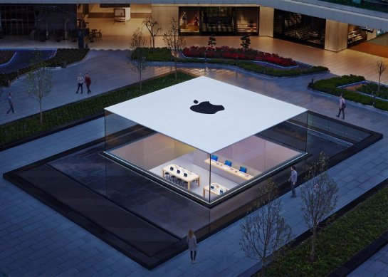 Apple строит новый магазин напоминающий огромный MacBook