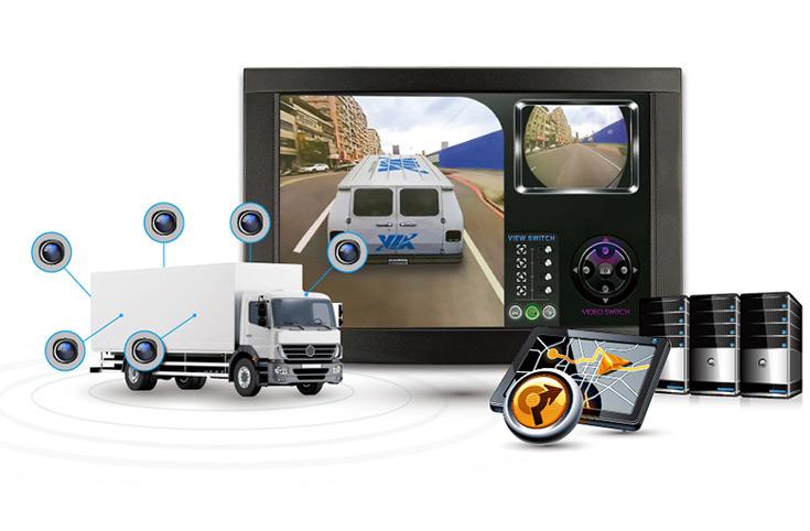 В комплект VIA Mobile360 Surround View Sample Kit входят камеры, монитор, модем 4G и приемник GPS