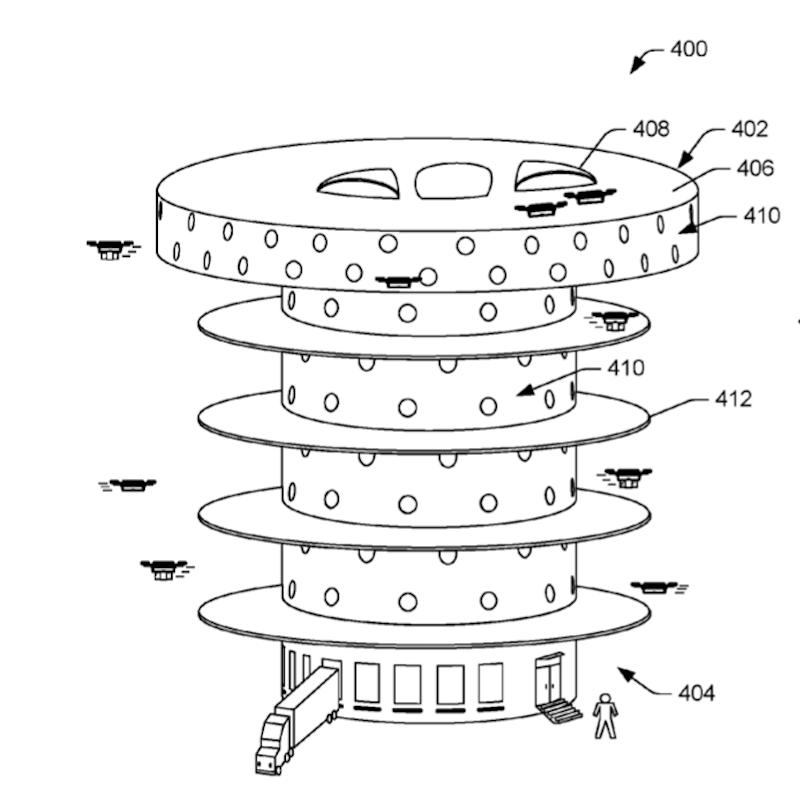 Доставка дронами: Amazon запатентовала башню для коптеров-курьеров - 3
