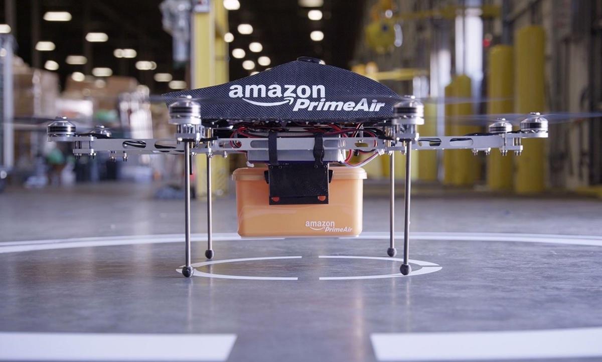 Доставка дронами: Amazon запатентовала башню для коптеров-курьеров - 1