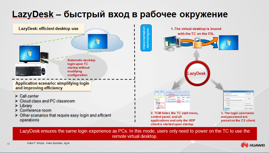Защищенное рабочее место на базе VDI Huawei FusionCloud Desktop Solution 6.1 - 11