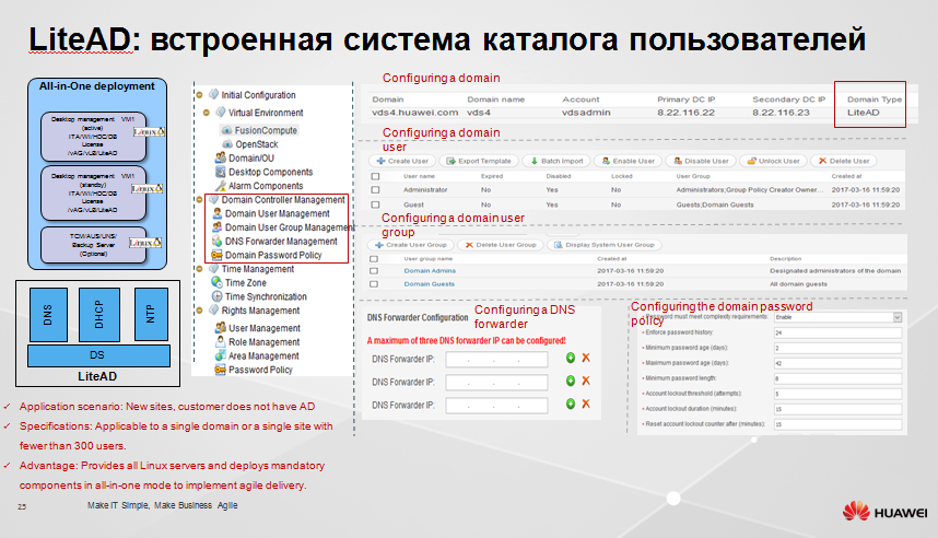 Защищенное рабочее место на базе VDI Huawei FusionCloud Desktop Solution 6.1 - 22
