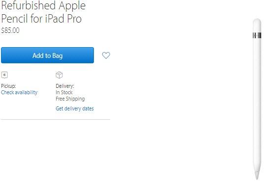 Apple начала продавать подержанные стилусы Apple Pencil за $85