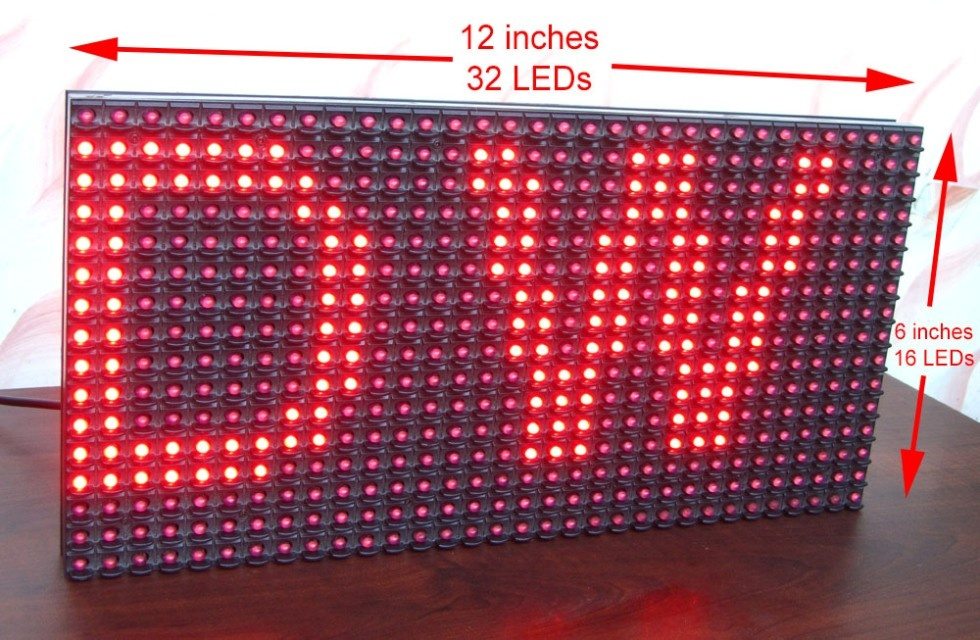 Как сделать очень заметный информер из светодиодного модуля для наружной рекламы и Arduino - 3